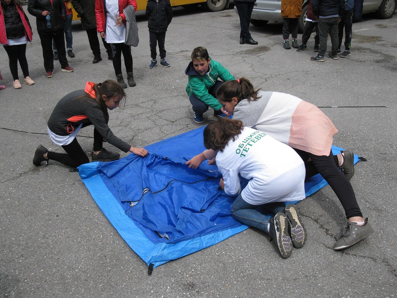 Спортно – технически умения по построяване на палатка